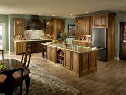 light hardwood floors with cabinets