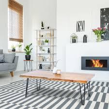 womo design moderner couchtisch 110x60x39cm rechteckig nat rliche massivholz akazienholz schwarzen hairpin legs metall handgefertigte wohnzimmertisch