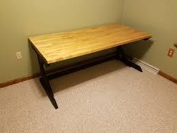 Menards Wood Computer Desk by Cantilevered Butcher Block Desk Album On Imgur