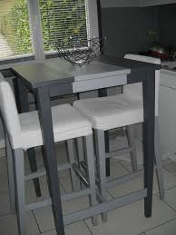 tables hautes cuisine table haute bar ikea bosse tabouret de bar bouleau test pour