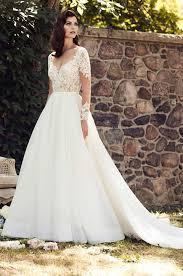 illusion lace sleeve wedding dress style 4744 paloma blanca