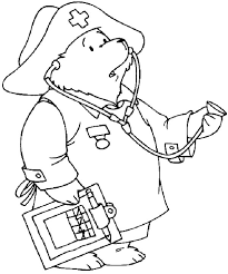 Doctor Paddington Looking For His Nurse Coloring Page