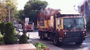 Toronto Solid Waste Truck Fire - YouTube Autocar Acx Mcneilus Autoreach Garbage Truck Youtube Trucks For Children With Blippi Learn About Recycling Commercial Dumpster Resource Electronic Videos Blue On Route Alphabet Learning Kids Watch Garbage Truck Eat An Entire Car Cnn Video Bruder Toy Side And Back Loader Waste Management Labrie Cool Hand Split Body