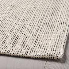 lidoma teppich flach gewebt kurzflor baumwolle 100 recycelt ikea tiphede waschmaschinen waschbar naturweiß creme 120 x 180 cm