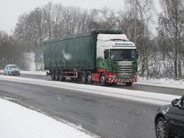 OSWESTRY TRUCKS IN SNOW JAN 2013 - YouTube