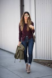 Fall Fashion Taupe Booties Olive Utility Jacket Long Sleeve Tee