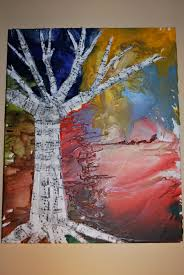 Musical Tree By MusickMakings On Etsy 5000 Crayon Melting Melted ArtCrayon Canvas