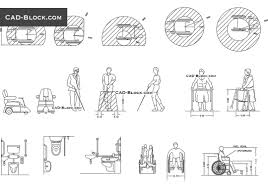 Bathroom Design Cad Blocks by Disabled People Cad Blocks Download