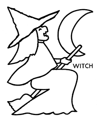 Witch Halloween Preschool Coloring Pages Printable Free