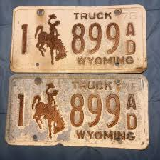 100 Wyoming Trucks And Cars TWO Vintage 1978 WYOMING TRUCK Vehicle Tags Number 1899 EBay