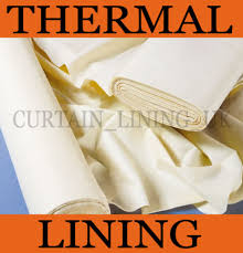 Thinsulate Insulating Curtain Liner Pair by Details About Insulating Thermal Curtain Lining Fabric By The