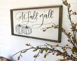 Its Fall Yall Framed Sign Wood Decor Signs