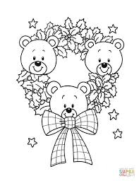 Christmas Wreath Of Teddy Bears
