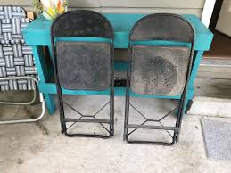 Best (2) Antique Farm House Metal Folding Chairs- Seats For Sale In ... Metal Folding Chairs Walmart Interiordedircom Antique Grey Vintage Garden Bistro Table And 2 Homegenies White Chippy Paint Ding Chair Heirloom Home Sustainable Slow Stylish A Plywood Scaramangas Industrial Fniture Scaramanga Louis Rastter Kumfort Brown Sold Pair Of Etsy One Hospital Foldable Peak Event Services Black Wood Wedding Slatted Shop Osp Furnishings Bristow Steel Finis