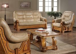 canapé cuir et bois rustique canape cuir angle rustique canapé idées de décoration de maison