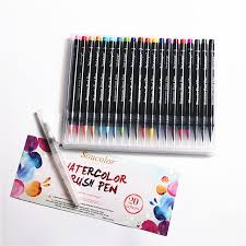 20 Color Premium Painting Soft Brush Pen Set Watercolor Markers Effect Best For Coloring Books Manga Comic In Art From Office School Supplies