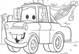 Coloring Print Pages For Disney Cars New At Book Mater Chevrolet Truck