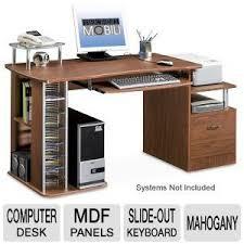 Techni Mobili L Shaped Computer Desk by Techni Mobili Rta 2202 M Deluxe Wood Computer Desk Mahogany At