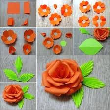 Paper Flowers Step By Flower Crafts Home Made Easy Craft Idea