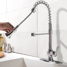 Bar Faucet With Sprayer by Pampa Chrome Finish Single Handle Kitchen Sink Faucet With Pull