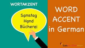 der wortakzent im deutschen german pronunciation of words sprechen learn german