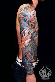 Chinese Dragon Half Sleeve Tattoo Photo