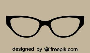 cat eye template retro classic cat eye glasses vector free