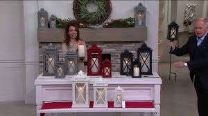 Qvc Christmas Tree With Remote by Luminara Lexington Lantern With Flameless Candle U0026 Remote On Qvc