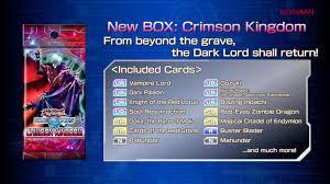 duel links crimson kingdom deck recipes the organization