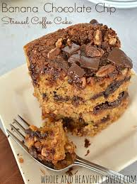 Banana Chocolate Chip Streusel Coffee Cake Whole and Heavenly Oven