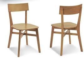 2x retro stühle massiv holzstuhl esszimmer design bauhaus