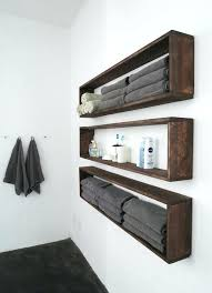 Wood Shelves Bathroom Wall Hanging Storage For An Organized Rustic
