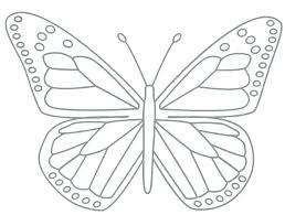 Simple Butterfly Coloring Pages Beautiful Printable Monarch Print