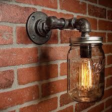 jar light vanity light edison light rustic light