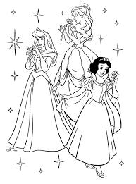Trio Disney Princess Coloring Pages