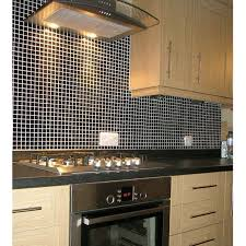 mosaic tile black glazed ceramic tiles kitchen backsplash tiles