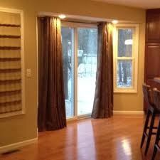 Sliding Door With Blinds In The Glass by Curtains For Sliding Glass Doors Size Drapes For Sliding Glass