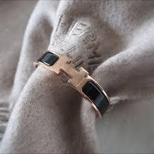 bnib hermes clic clac black rosegold hardware luxury on carousell