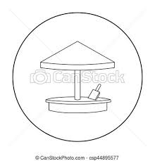 Sandbox Icon In Outline Style Isolated On White Background Play Garden Symbol Stock Vector