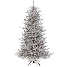 D21 7ft Pre Lit Colmar Organic Flocked Christmas Tree