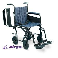 Bariatric Transport Chair 24 Seat by Airgo Lightweight Comfort Plus Transport Chair 19 Plaid With