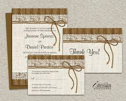 Rustic Wedding Invitation Kits Printable Sets Burlap And Lace With