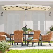 Sears Rectangular Patio Umbrella by Patio Umbrellas The Home Depot