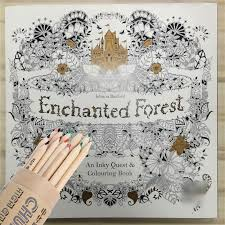 Enchanted Forest Secret Garden Coloring Book For Adults 96pages Adult Painting Antistress Books 2525cm Color Pencil Set Colouring Toddlers