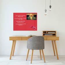 dekoration glas magnettafel rot 60x80 pinnwand wand mit