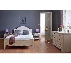 chambre chene blanchi lit 160 x 200 cm juliette chêne blanchi lits but