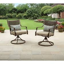 Walmart Swivel Chair Hunting by Better Homes And Gardens Lynnhaven Park Swivel Chairs 2pk