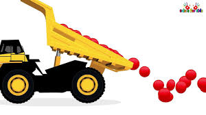 Learn Colors With Dump Trucks For Children & Color Garage Animation ...