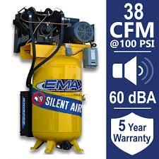 EMAX Industrial PLUS 80 Gal 10 HP 1 Phase Silent Air Electric Air