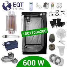 kit chambre culture pack box 600w cooltube 100x100 black box 2 supacrop achat